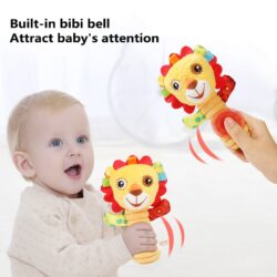 ZK50 Infant Cotton Rattle hand Bell Toy 0 12 months Bed Stroller baby mobile Hanging Rattles